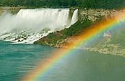 Rainbow and NIagara  Falls<br /> Niagara Falls<br /> Ontario<br /> Canada