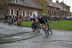 Jolien D'hoore (Wiggle High5) leads the chase at the 112.8 km Le Samyn des Dames on March 1st 2017, from Quaregnon to Dour, Belgium. (Photo by Sean Robinson/Velofocus)