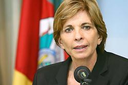 A governadora eleita do Rio Grande do Sul, Yeda Crusius durante coletiva de imprensa na sede da PROCERGS. FOTO: Jefferson Bernardes/Preview.com