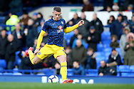 Chelsea midfielder Ross Barkley (8) warming up during the Premier League match between Everton and Chelsea at Goodison Park, Liverpool, England on 17 March 2019.