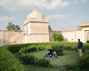 Family enjoy a visit at the famous Chittaurgarh Fort.