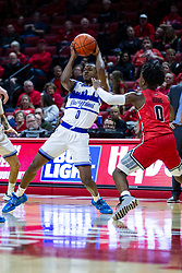 NORMAL, IL - February 22: D.J. Wilkins during a college basketball game between the ISU Redbirds and the Drake Bulldogs on February 22 2020 at Redbird Arena in Normal, IL. (Photo by Alan Look)