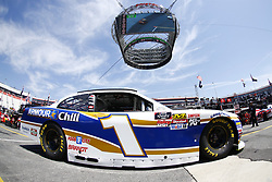 April 13, 2018 - Bristol, Tennessee, United States of America - April 13, 2018 - Bristol, Tennessee, USA: Elliott Sadler (1) drives his car under Colossus TV during opening practice for the Fitzgerald Glider Kits 300 at Bristol Motor Speedway in Bristol, Tennessee. (Credit Image: © Chris Owens Asp Inc/ASP via ZUMA Wire)