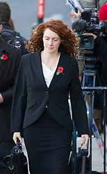 © Licensed to London News Pictures. 30/10/2013. London, UK. Rebekah Brooks, former editor of the News of the World, arrives at the Old Bailey in London today (30/10/2013) where she faces charges related to phone hacking during their time at the paper. Photo credit: Matt Cetti-Roberts/LNP