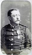 portrait adult man posing in military uniform France 1880s