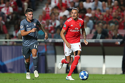 September 19, 2018 - Lisbon, Portugal - Benfica's Serbian midfielder Ljubomir Fejsa (R ) vies with Bayern Munich's midfielder James Rodriguez from Colombia during the UEFA Champions League Group E football match SL Benfica vs Bayern Munich at the Luz stadium in Lisbon, Portugal on September 19, 2018. (Credit Image: © Pedro Fiuza/ZUMA Wire)