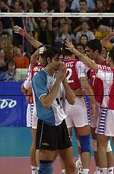 23-09-2000 AUS: Olympic Games Volleybal Joegoslavie - Argentinie, Sydney<br /> Alejandro Spajic
