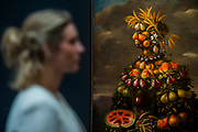 Attributed to Giovanni Stanchi, THE FOUR SEASONS: FOUR ANTHROPOMORPHIC FIGURES, Estimate  £250,000-350,000 - London Old Masters Evening sale exhibition at Sotheby's New Bond Street. The sale takes palce on 6 December 2017 covers 400 years of art history.
