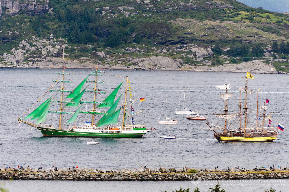 Norway, Randaberg. Tall Ships Race in Stavanger 2011. Alexander von Humboldt and Shtandart.