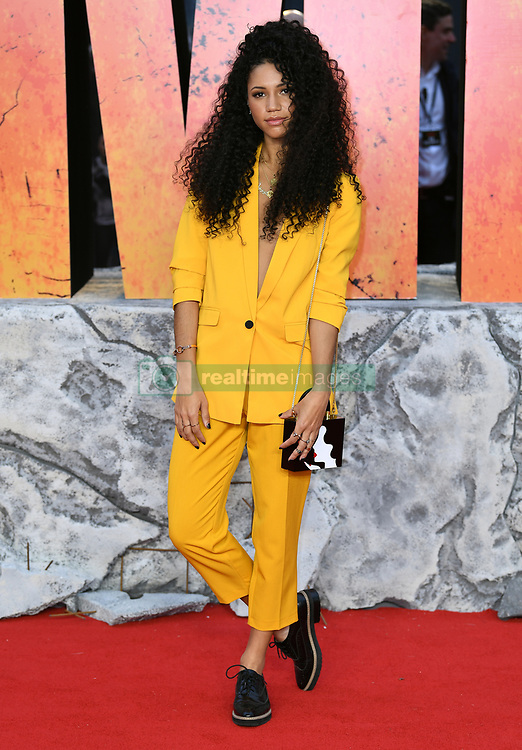 Vick Hope attending the European premiere of Rampage, held at the Cineworld in Leicester Square, London. Photo credit should read: Doug Peters/EMPICS Entertainment