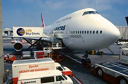 Front Of Boing Qantas Airways Airplane