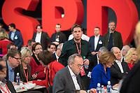 DEU, Deutschland, Germany, Berlin, 06.12.2019: Der Juso-Bundesvorsitzende Kevin Kühnert beim Bundesparteitag der SPD im CityCube. Kühnert wurde auf dem Parteitag zu einem der stellvertretenden SPD-Parteivorsitzenden gewählt.