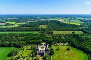 Nederland, Gelderland, Gemeente Doetinchem, 29-05-2019; landschap van de Achterhoek ten oosten Doetinchem met Kasteel Slangenburg. Tevens landgoed, met Sint-Willibrordsabdij. <br /> In eigendom bij de Nationale Monumentenorganisatie (NMo), landgoed in beheer bij beheerd door Staatsbosbeheer.<br /> Landscape of the Achterhoek east of Doetinchem with Slangen burg Castle and estate,<br /> <br /> luchtfoto (toeslag op standard tarieven);<br /> aerial photo (additional fee required);<br /> copyright foto/photo Siebe Swart