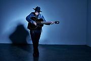 Country music artist Joshua Black Wilkins in his studio in Nashville