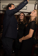CHARLIE GILKES; NATALIE PINKHAM; ANNEKA GILKES, , Cahoots club launch party, 13 Kingly Court, London, W1B 5PW  26 February 2015