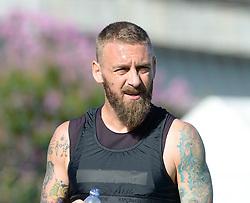 July 19, 2018 - Rome, Italy - Daniele De Rossi during training session open to the fans of A.S. Roma,  pre-season retreat at Stadio Tre Fontane on july 19, 2018 in Rome, Italy. (Credit Image: © Silvia Lore/NurPhoto via ZUMA Press)