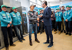 Tomaz Druml and Franci Petek, CEO of SZS during press conference of Slovenian Nordic Ski team before new season 2017/18, on November 14, 2017 in Gorenje, Ljubljana - Crnuce, Slovenia. Photo by Vid Ponikvar / Sportida