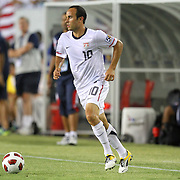 USA midfielder Landon Donovan (10) passes the ball during a  CONCACAF Gold Cup soccer match between the United States and Panama on Saturday, June 11, 2011, at Raymond James Stadium in Tampa, Fla. (AP Photo/Alex Menendez)