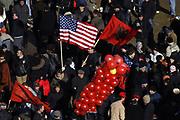 "Kosovo, Pristina,""Zahir PAJAZITI"" square<br /> Sunday, February 17, 2008<br /> Kosovo people celebration, before, during and after Declaration of Kosovo Independent"