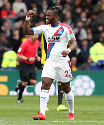 Crystal Palace's Michy Batshuayi celebrates scoring his side's first goal of the game during the FA Cup quarter final match at Vicarage Road, Watford.