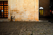 Small boy and shadow, Church of Saint Mark, Makarska, Croatia