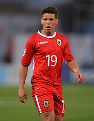 Gibraltar's Tjay De Barr during the UEFA Euro 2020 Qualifying, Group D match at the Victoria Stadium, Gibraltar.