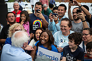 Bernie Sanders greets his supporters outside of a rally at Discovery Green outside the George R. Brown Convention Center in Houston, TX Wednesday April 24, 2019.