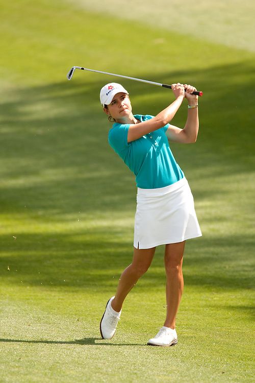 Lorena Ochoa during the third round of the 2010 Kraft-Nabisco Championship, photographed at the Dinah Shore Course at Mission Hills Country Club in Rancho Mirage, California on Saturday, April 3, 2010. Photograph © 2010 Darren Carroll.