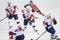 Andrej Tavzelj of Slovenia during Friendly Ice-hockey match between National teams of Slovenia and Austria on April 19, 2013 in Ice Arena Tabor, Maribor, Slovenia. (Photo By Vid Ponikvar / Sportida)