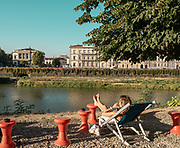 FLORENCE, iTALY, along the river Arno