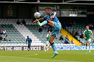 Taylor Allen (12) of Forest Green Rovers controls the ball during the Pre-Season Friendly match between Yeovil Town and Forest Green Rovers at Huish Park, Yeovil, England on 31 July 2021.