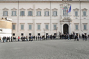 Journalists waiting to enter at the Quirinale during the assignment to make new government by Matteo Renzi Rome, 17  fabraury 2014. Christian Mantuano / OneShot