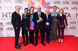 The cast of The Bodyguard (second left to right) Ash Tandon, Pippa Haywood with the award for best New Drama in the Press Room at the National Television Awards 2019 held at the O2 Arena, London. PRESS ASSOCIATION PHOTO. Picture date: Tuesday January 22, 2019. See PA story SHOWBIZ NTAs. Photo credit should read: Ian West/PA Wire