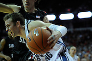 13 MAR 2009:  Brigham Young University takes on San Diego State University during the Mountain West Conference Men's Basketball Tournament held at the Thomas & Mack Center in Las Vegas, NV.  Brett Wilhelm/NCAA Photos