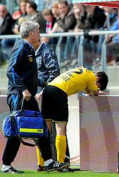 16-05-2010 VOETBAL: FC UTRECHT - RODA JC: UTRECHT<br /> FC Utrecht verslaat Roda in de finale van de Play-offs met 4-1 en gaat Europa in / Kris de Wree breekt zijn pols<br /> ©2010-WWW.FOTOHOOGENDOORN.NL