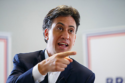 © Licensed to London News Pictures. 28/05/2016. London, UK. Former Labour leader ED MILIBAND speaks to young people at a Britain Stronger in Europe event in central London on Saturday, 28 May 2016. Photo credit: Tolga Akmen/LNP