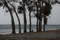 Grey sky, deserted beach, Mediterranean, Mediterraneo, San Pedro de Alcantara, Malaga, Andalucia, Andalusia, Spain, Espana, Costa del Sol, tourism, travel, holidays, 201302201150..Copyright Image from Victor Patterson, 54 Dorchester Park, Belfast, UK, BT9 6RJ..Tel: +44 28 9066 1296.Mob: +44 7802 353836.Voicemail +44 20 8816 7153.Skype: victorpattersonbelfast.Email: victorpatterson@me.com.Email: victorpatterson@ireland.com (back-up)..IMPORTANT: If you wish to use this image or any other of my images please go to www.victorpatterson.com and click on the Terms & Conditions. Then contact me by email or phone with the reference number(s) of the image(s) concerned.