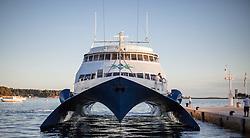 "THEMENBILD - URLAUB IN KROATIEN, das Touristenschiff ""Prince of Venice"" im Hafen, aufgenommen am 01.07.2014 in Porec, Kroatien // the tourist boat ""Prince of Venice"" at the port in Porec, Croatia on 2014/07/01. EXPA Pictures © 2014, PhotoCredit: EXPA/ JFK"