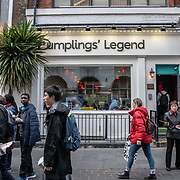 Dumpling Legend in London Chinatown Sweet Tooth Cafe and Restaurant at Newport Court and Garret Street on 15 June 2019, UK.
