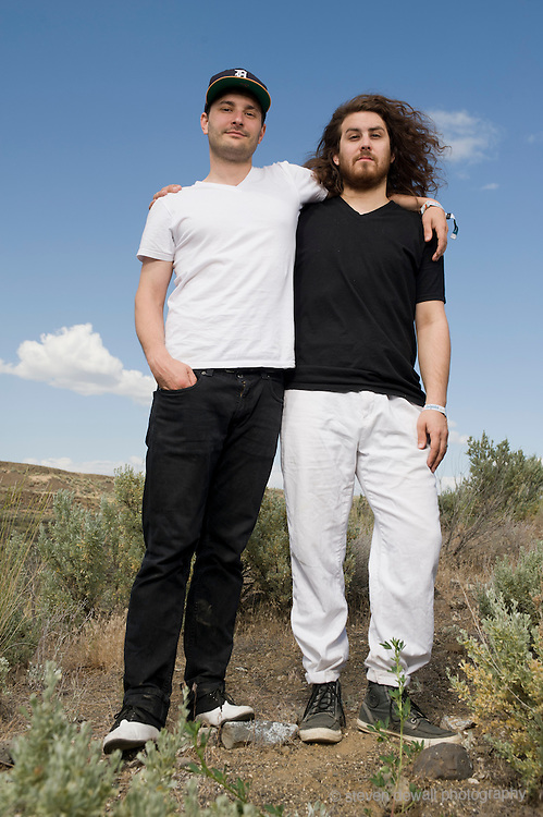 George, WA. - May 27th, 2012 Dale Earnhardt Jr. Jr. pose for a portrait backstage at the Sasquatch Music Festival in George, WA. United States