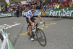 September 15, 2018 - Sant Julia De Loria, SPAIN - Belgian Thomas De Gendt of Lotto Souda, Leader of the Mountains Classification,  pictured at the 20th stage of the 'Vuelta a Espana', Tour of Spain cycling race, 97,3km from Escaldes-Engordany to Sant-Julia de Loria, Spain, Saturday 15 September 2018. ..BELGA PHOTO YUZURU SUNADA FRANCE OUT. (Credit Image: © Yuzuru Sunada/Belga via ZUMA Press)