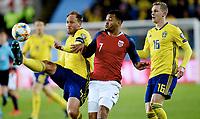 Fotball , 26. mars 2019 , EM-kvalifisering , Euro Qual.<br /> Norge - Sverige<br /> Norway - Sweden<br /> Joshua King  , Norge<br /> Andreas Granqvist , Sverige<br /> Emil Krafth , Sverige 16