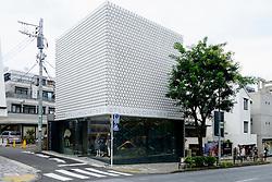 Modern architecture of fashion boutique Stella McCartney in upmarket Aoyama district of Tokyo Japan
