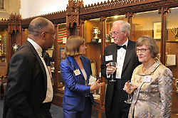 Kurt Schmoke, Guest, Henry B. Schacht and Nancy Schacht. Cocktail Reception for Yale University Athletics Blue Leadership 2009 Honorees. Kiphuth Trophy Room, Payne Whitney Gym on 20 November '09.