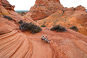 View of South Coyote Buttes, Arizona, US, on an overcast June day