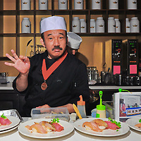 """Chef Kenny Yamada of Hell's Kitchen and Katsuya fame, started his """"Sushi Pop Art"""" Series at Royal T with a packed house and have been going on strong, serving his amazing artful and delicious delicious dishes to hungry patrons."""