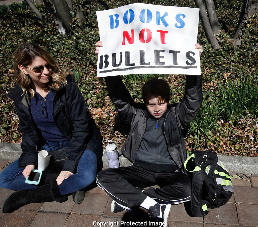 The March for Our Lives rally on Pennsylvania Avenue in Washington, D.C. on March 24, 2018.<br /> Photo by Dennis Brack