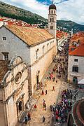 St. Saviour Church and the Franciscan Monastery on the Stradun, old town Dubrovnik, Dalmatian Coast, Croatia