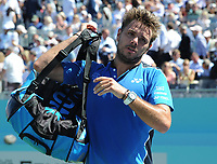 Tennis - 2018 Queen's Club Fever-Tree Championships - Day One, Monday<br /> <br /> Men's Singles, First Round: Stan Wawrinka (SUI) vs. Cameron Norrie (GBR)<br /> <br /> Stan Wawrinka after his win over Cameron Norrie in two sets , on Centre Court.<br /> <br /> COLORSPORT/ANDREW COWIE