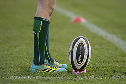 November 3, 2018 - Galway, Ireland - The official Guinness PRO14 ball pictured during the Guinness PRO14 match between Connacht Rugby and Dragons at the Sportsground in Galway, Ireland on November 3, 2018  (Credit Image: © Andrew Surma/NurPhoto via ZUMA Press)